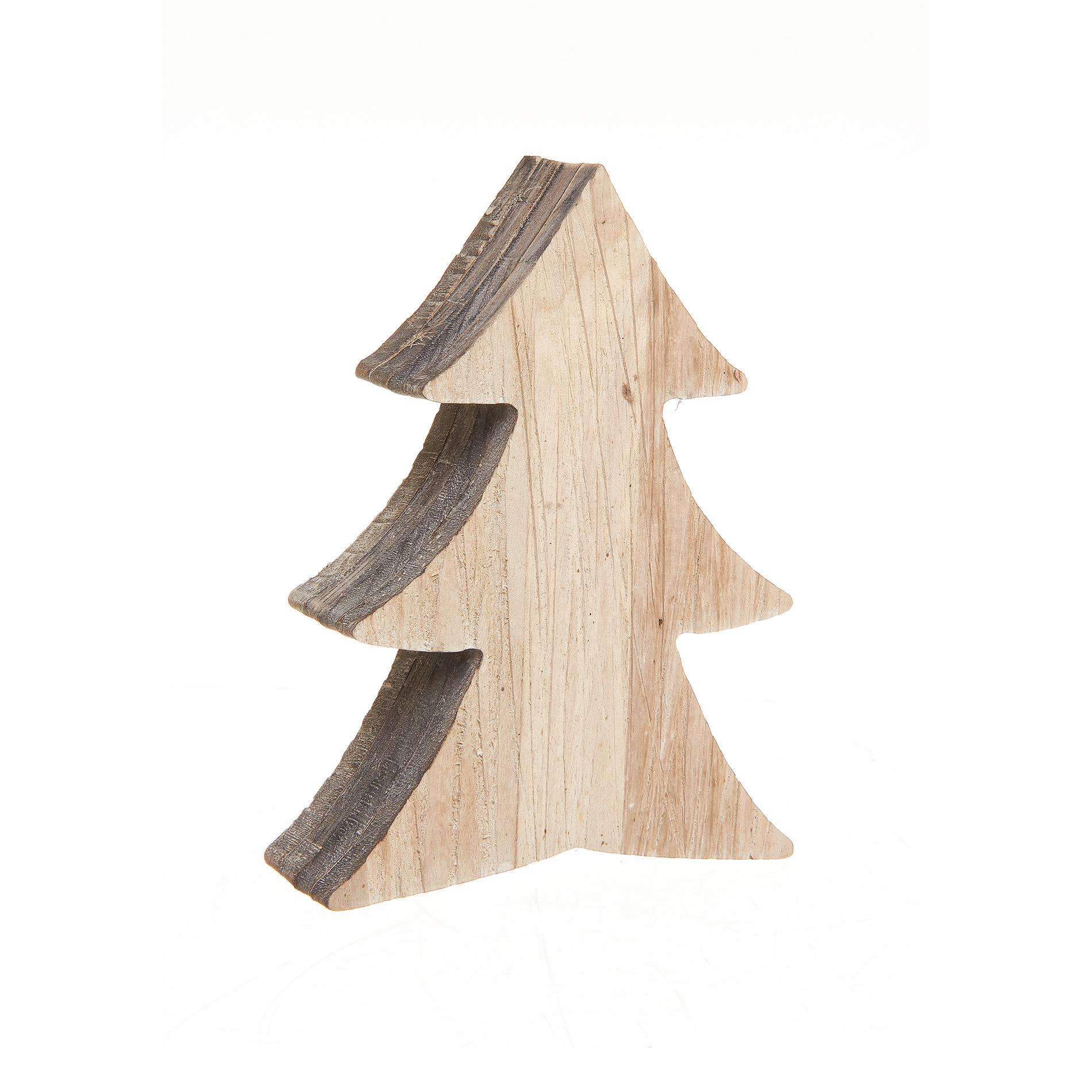 Albero di natale legno con venature coincasa for Albero di natale di legno