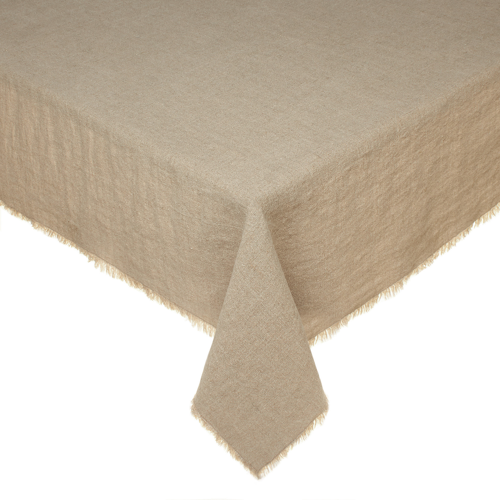 100% Portuguese Linen Fringed Tablecloth