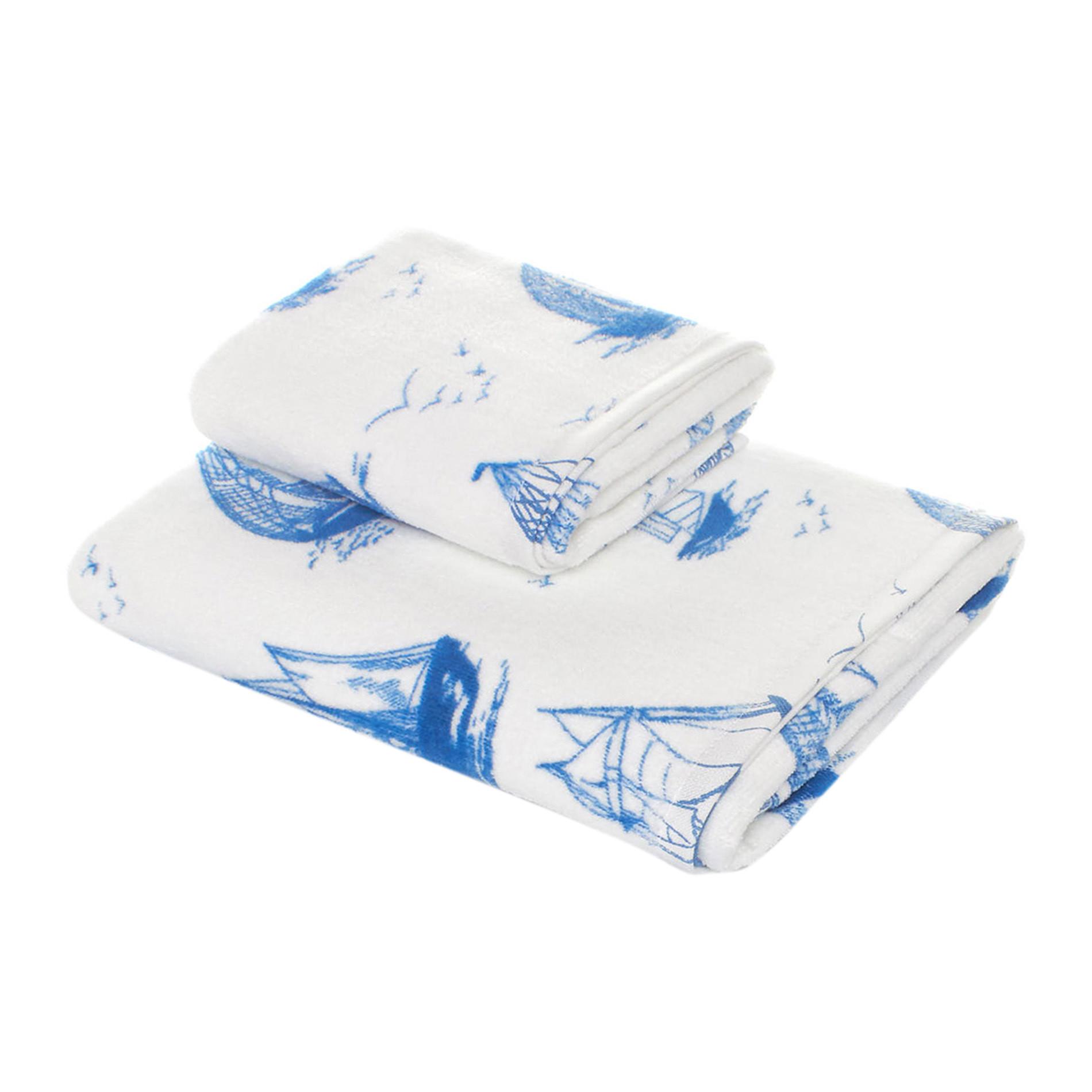 Asciugamano velour puro cotone stampa velieri coincasa - Saldi coin casa ...