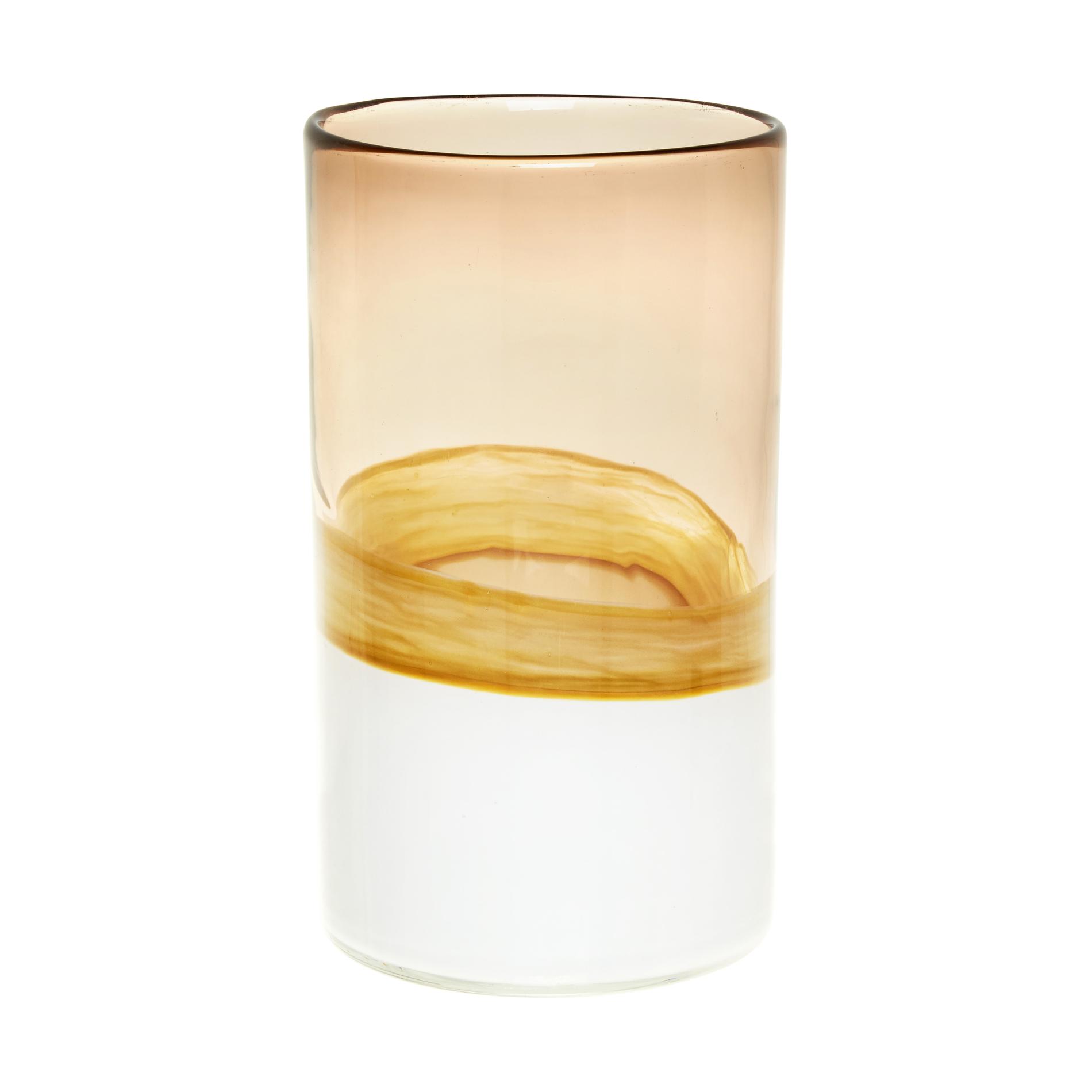 Portacandele in vetro bicolore fatto a mano coincasa - Portacandele in vetro ...
