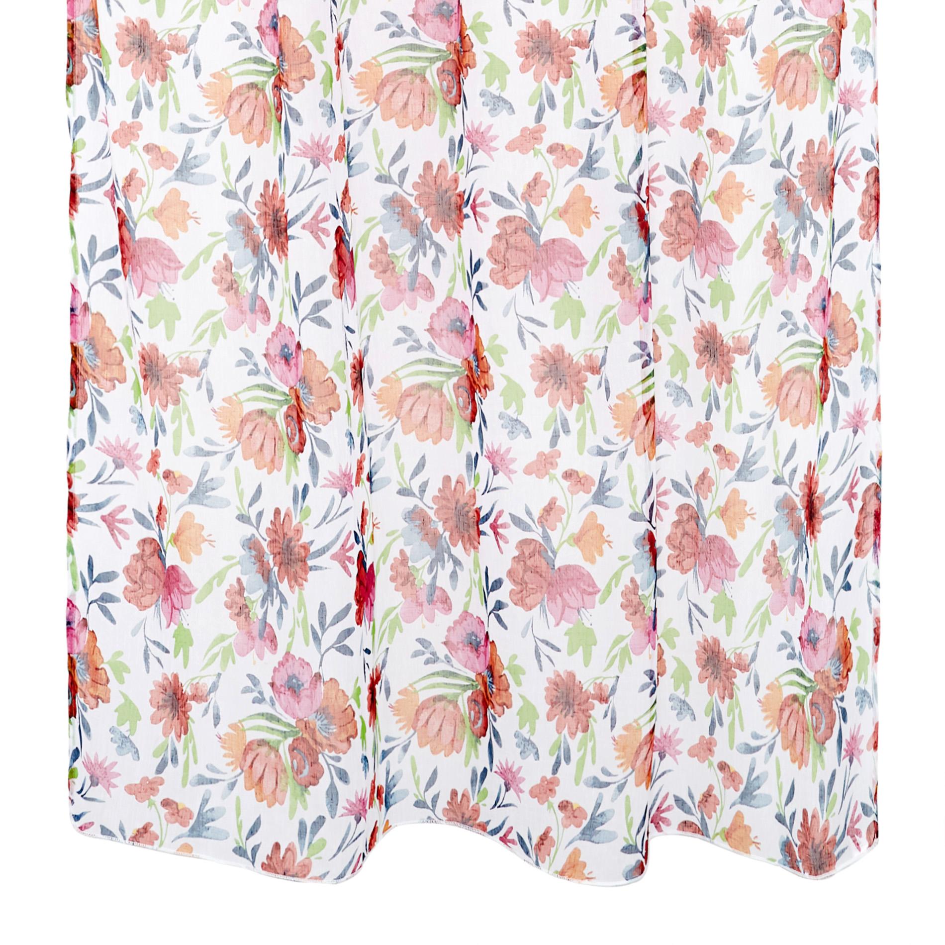 Flower Print Curtain Coincasa