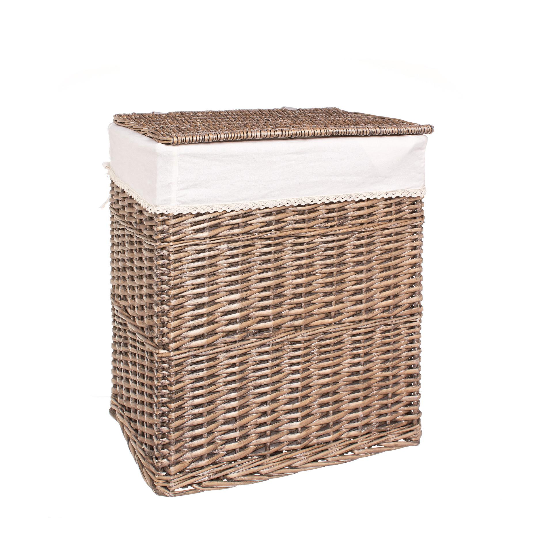 Cesto portabiancheria in legno di salice naturale coincasa - Il bagno con cui si cambia tinta al tessuto ...