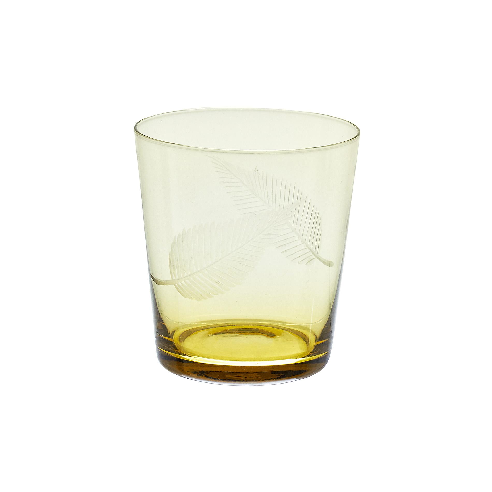 Bicchiere vetro decorato foglie coincasa - Coincasa bicchieri ...