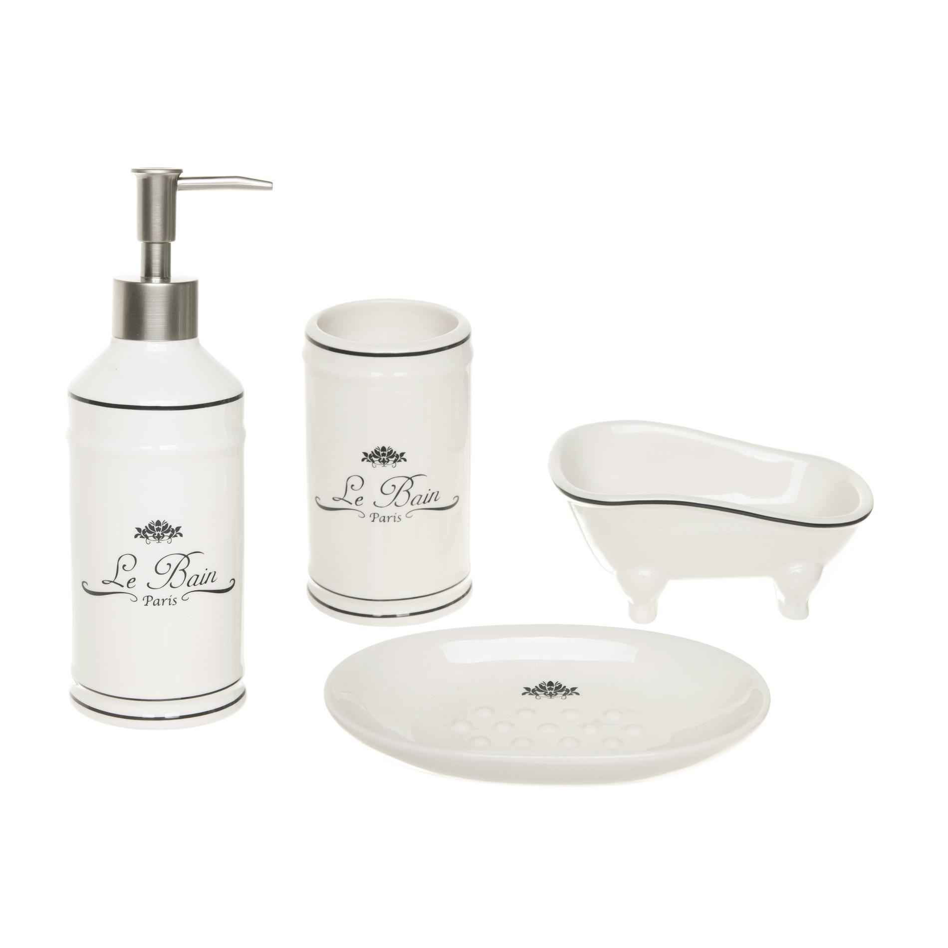Set bagno ceramica vintage coincasa for Accessori bagno vintage