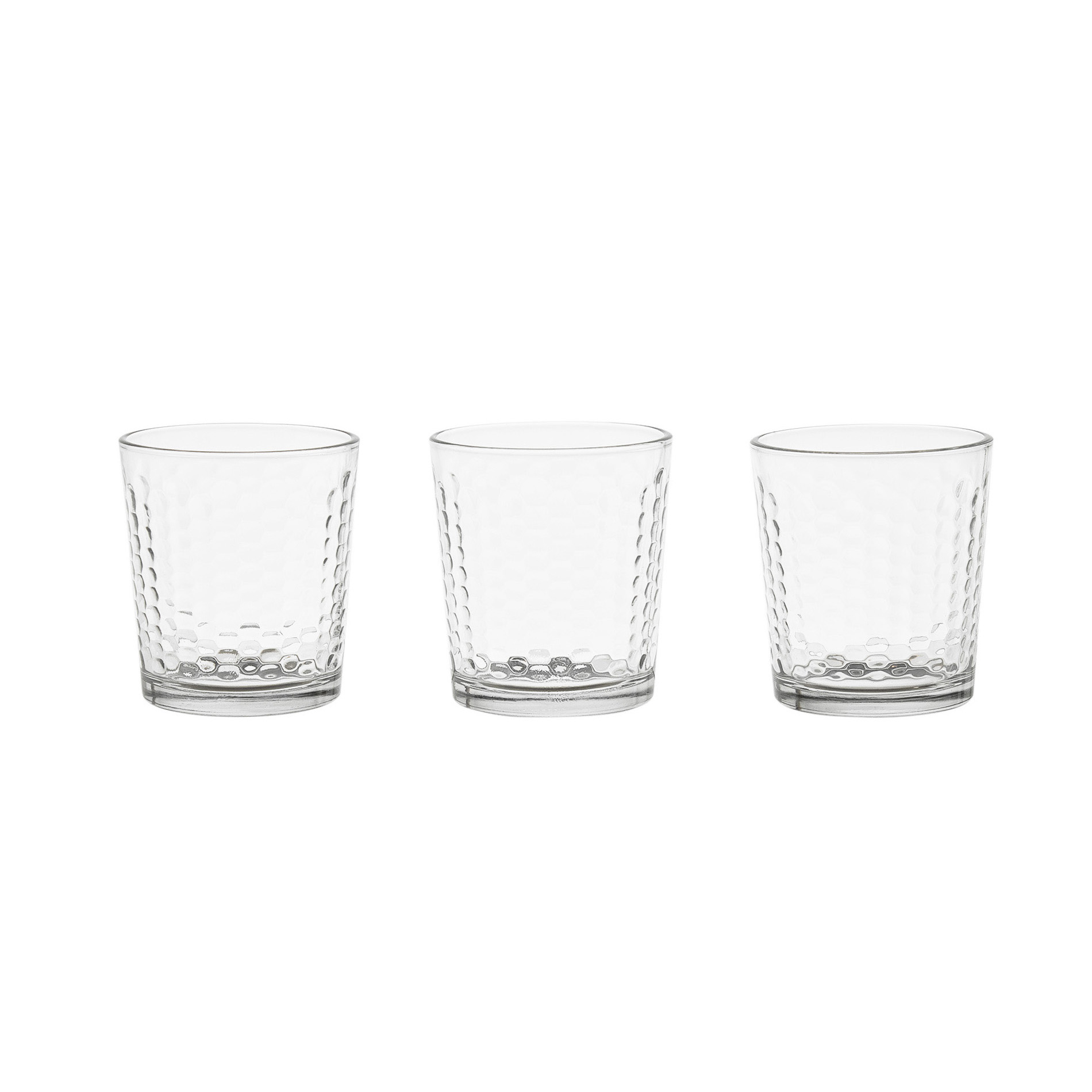 Set 3 bicchieri in vetro decorazione in rilievo coincasa - Coincasa bicchieri ...