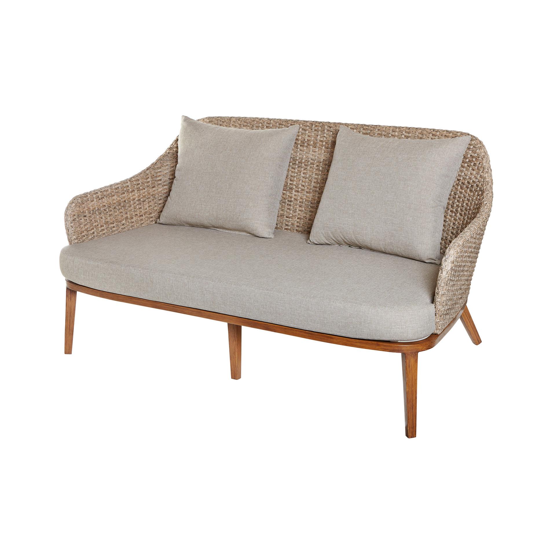 Small Outdoor Baltic Sofa In Polyrattan