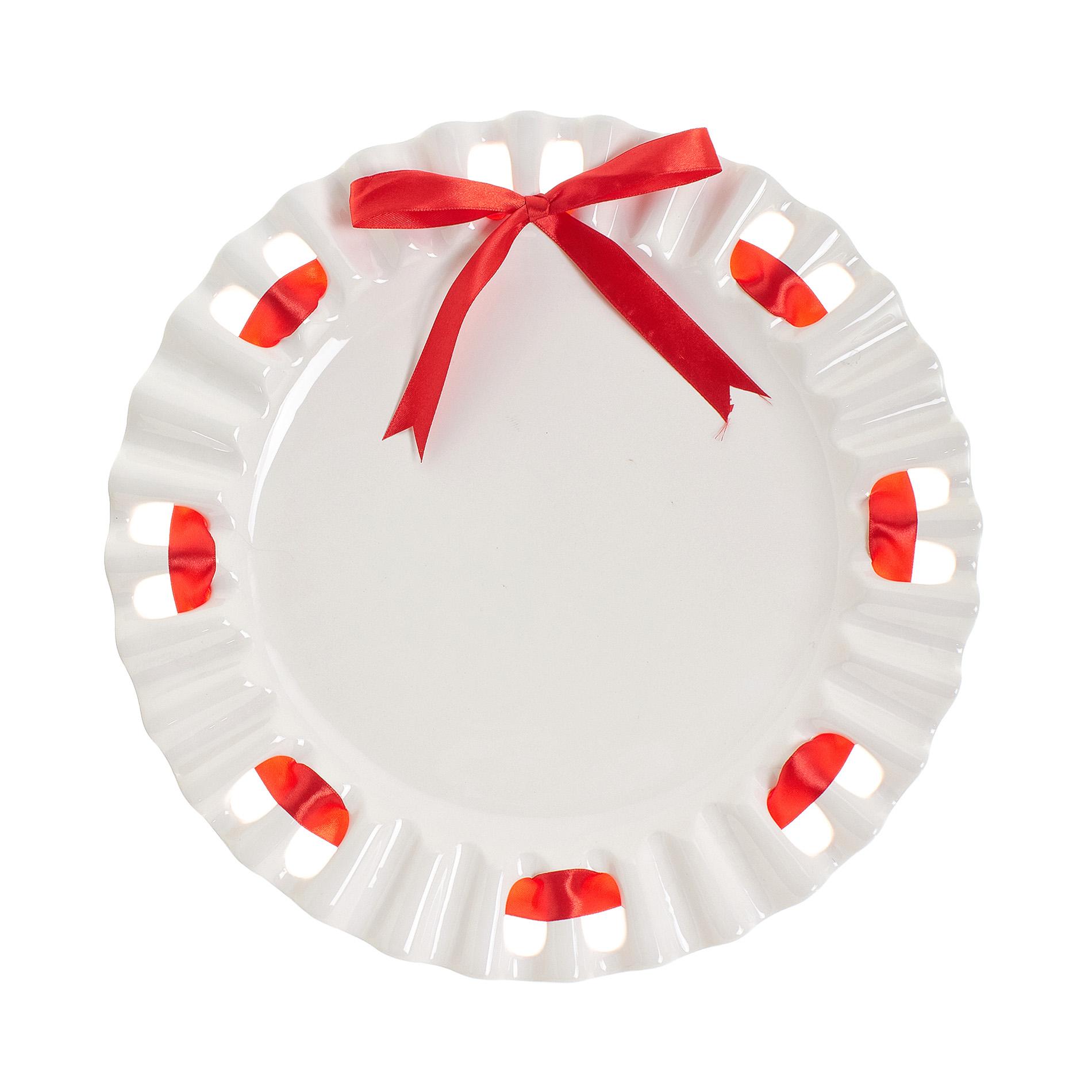 Piatto da portata ceramica con nastro coincasa - Piatto da portata ...