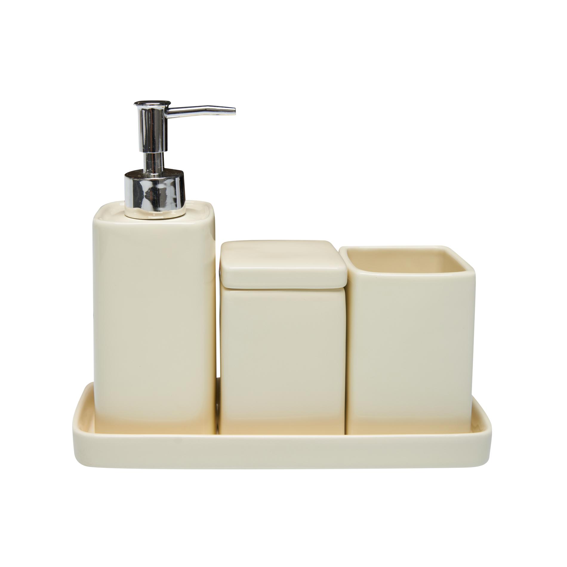 Set 4 accessori bagno ceramica - coincasa