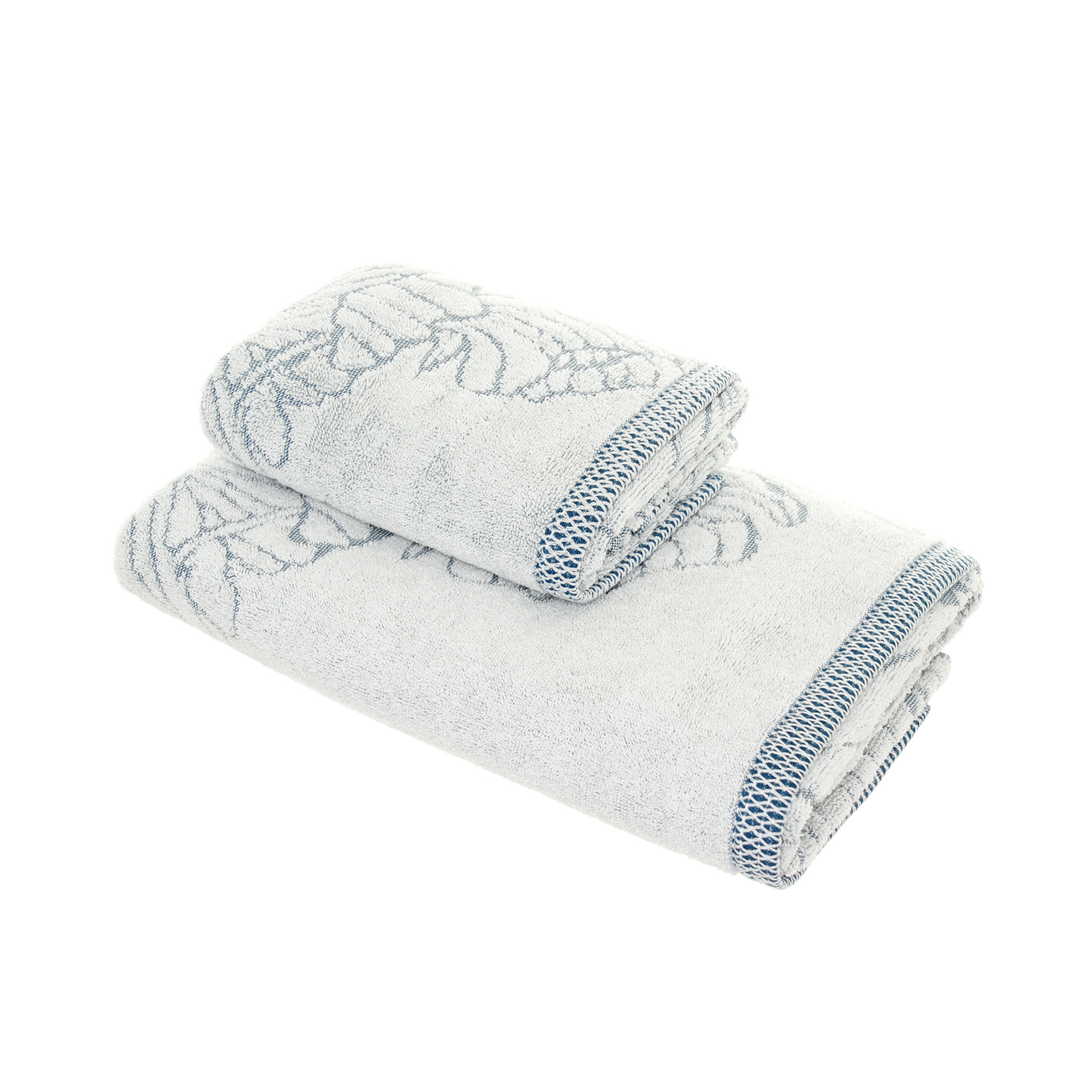 100 cotton towel with engraved flower coincasa