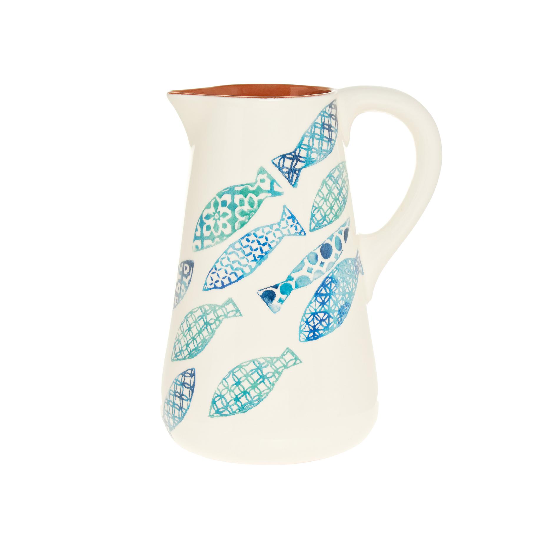 Caraffa ceramica portoghese decorazione pesci coincasa for Decorazione ceramica