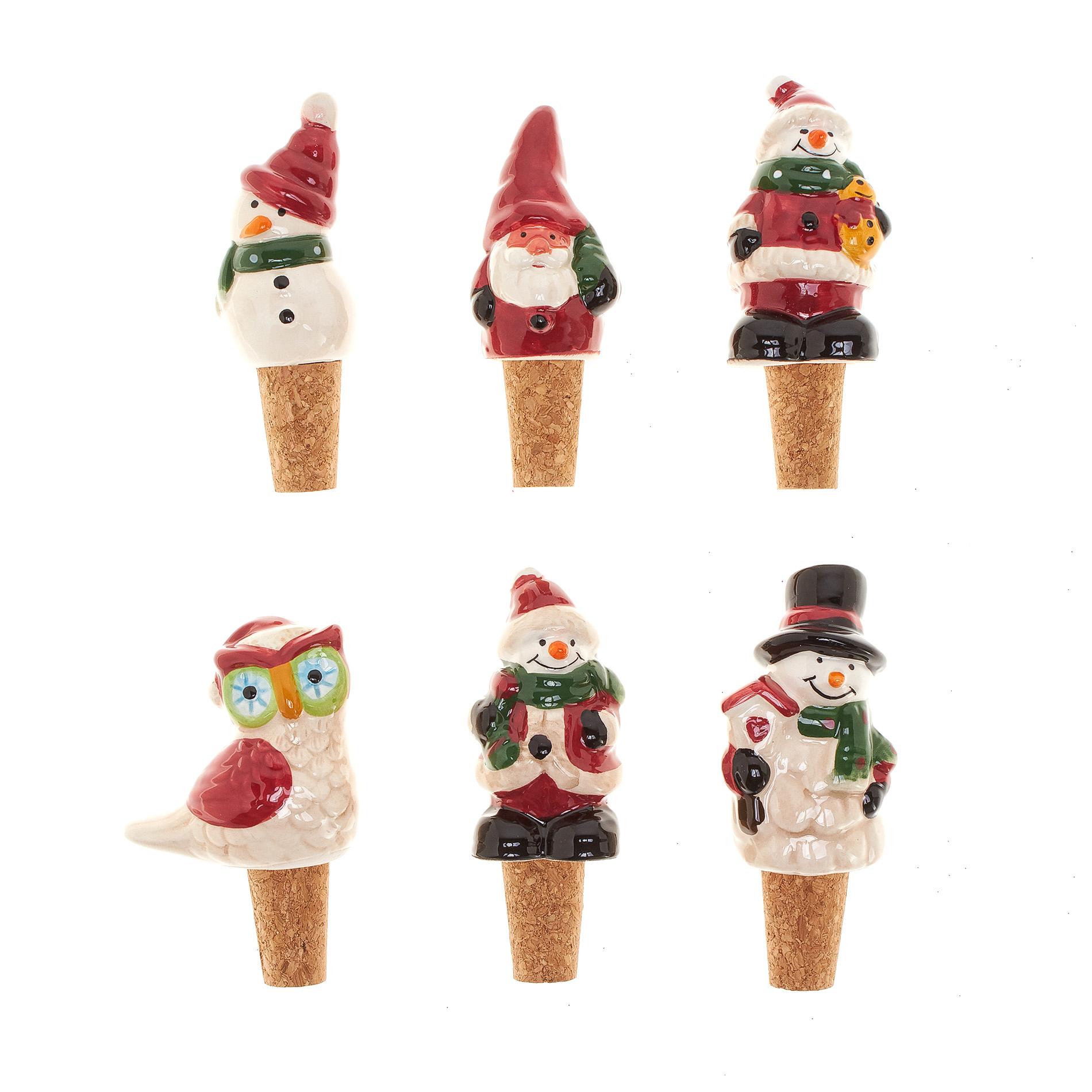 Tappi decorazione ceramica personaggi natalizi coincasa for Decorazione ceramica