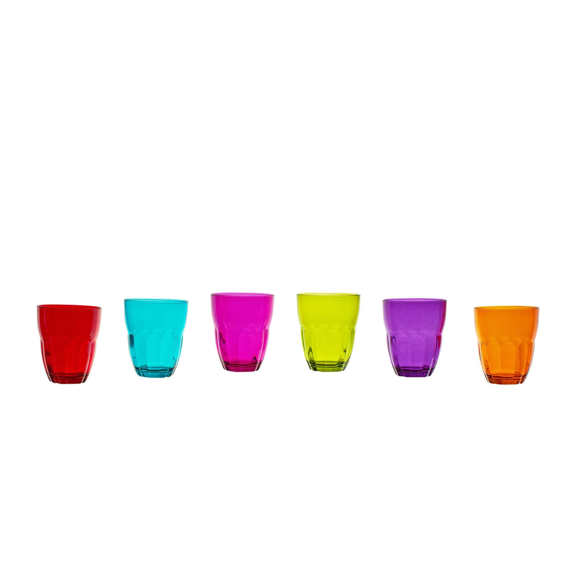 Set 6 bicchieri vetro colorato coincasa - Coincasa bicchieri ...