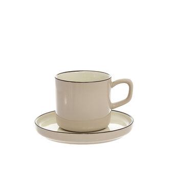 Tazza da tè in ceramica dura lucida