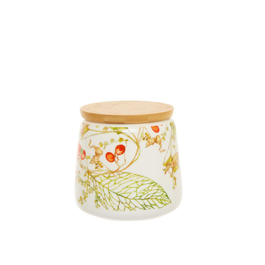 Tin in new bone China with flowers motif