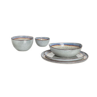 Decorated stoneware tableware range