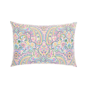 Rectangular cotton cushion with mandala print