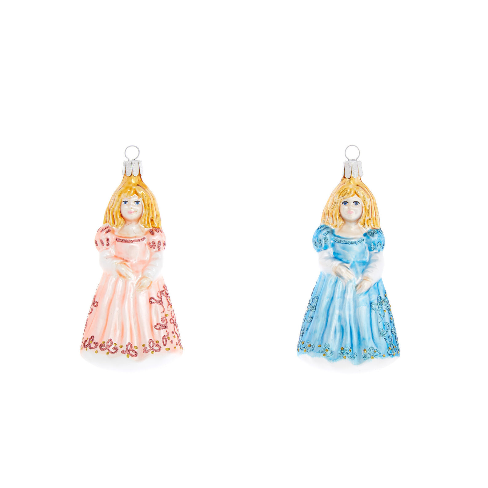 Princess decoration in hand-blown glass