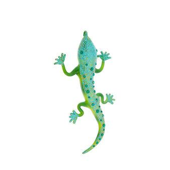 Hand-decorated lizard decoration