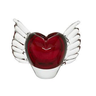 Handmade coloured glass heart