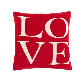 Love cushion in knitted cotton 45x45cm