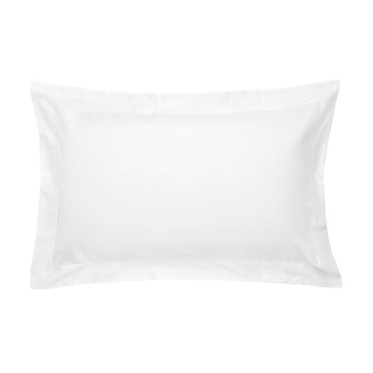 Portofino satin cotton pillowcase with flounce