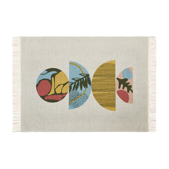 100% cotton table mat with geometric print