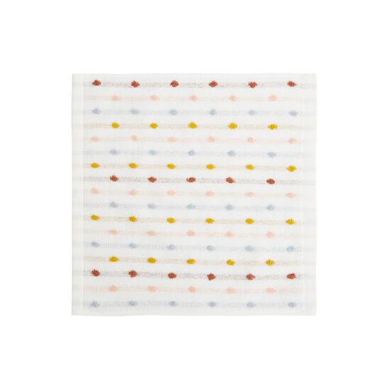 Set of 2 polka dot cotton terry face cloths