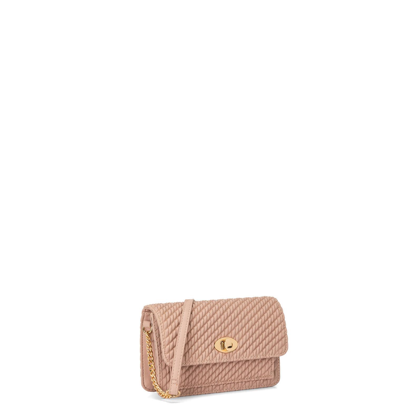 Koan curled-effect shoulder bag