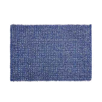 Cotton and chenille blend bath mat