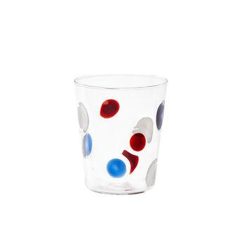 Bicchiere in vetro decoro a pois