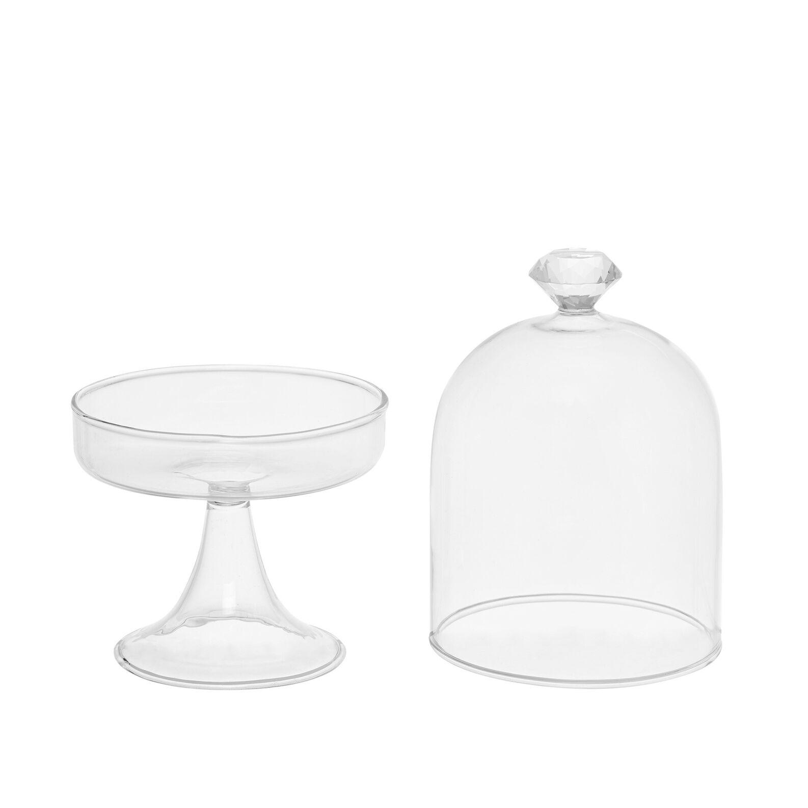 Glass cake stand with diamond