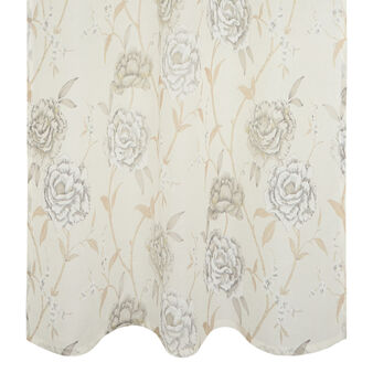 100% linen curtain with rose print