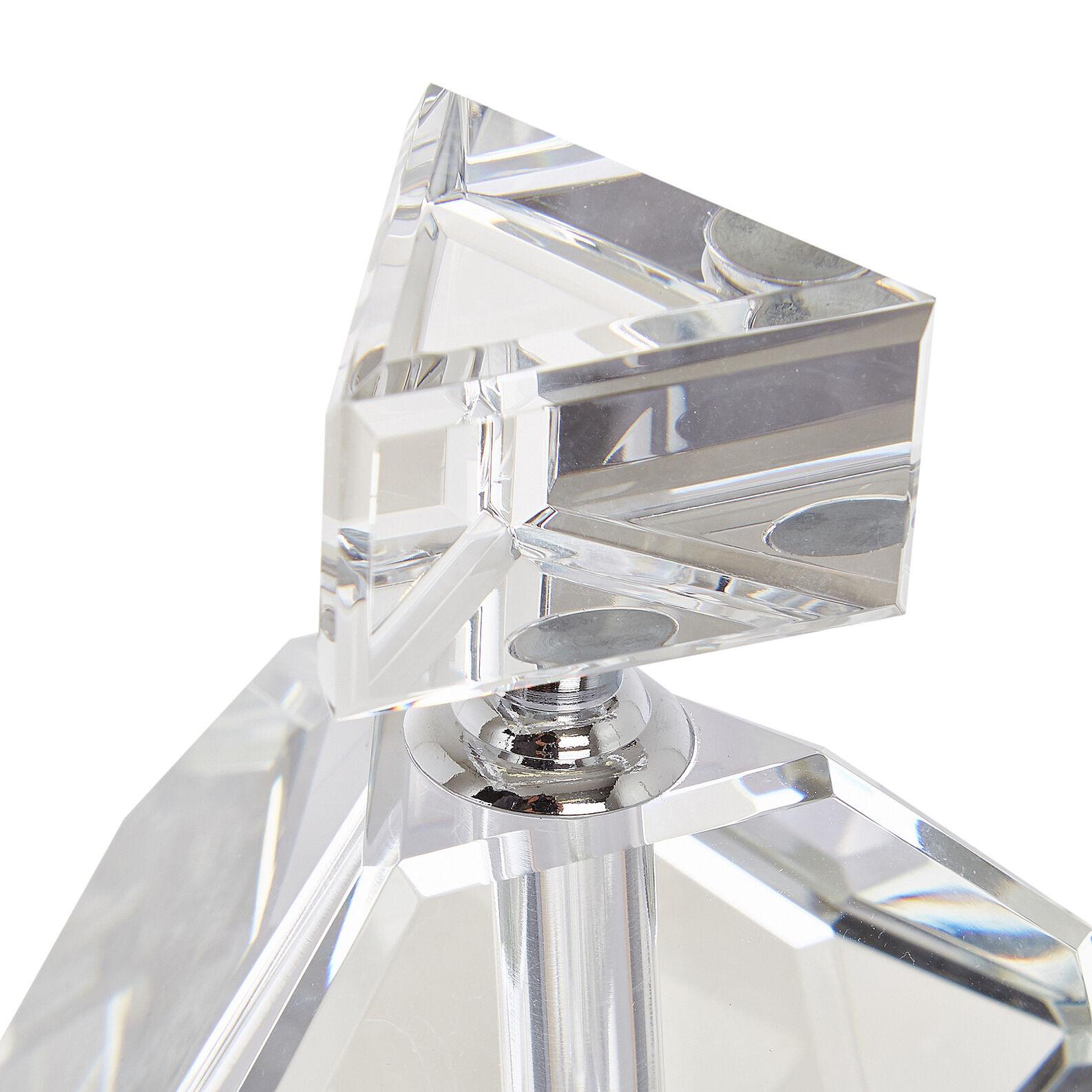 Bottiglia decorativa in cristallo