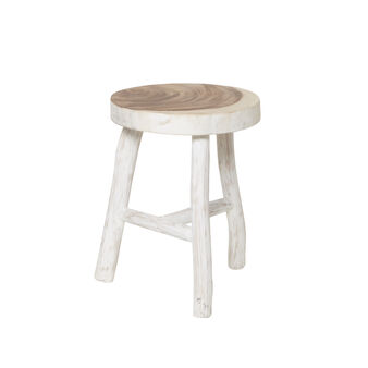 Katiga stool in mahogany wood