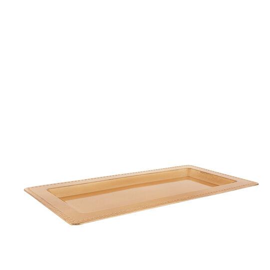 Solid colour plastic tray