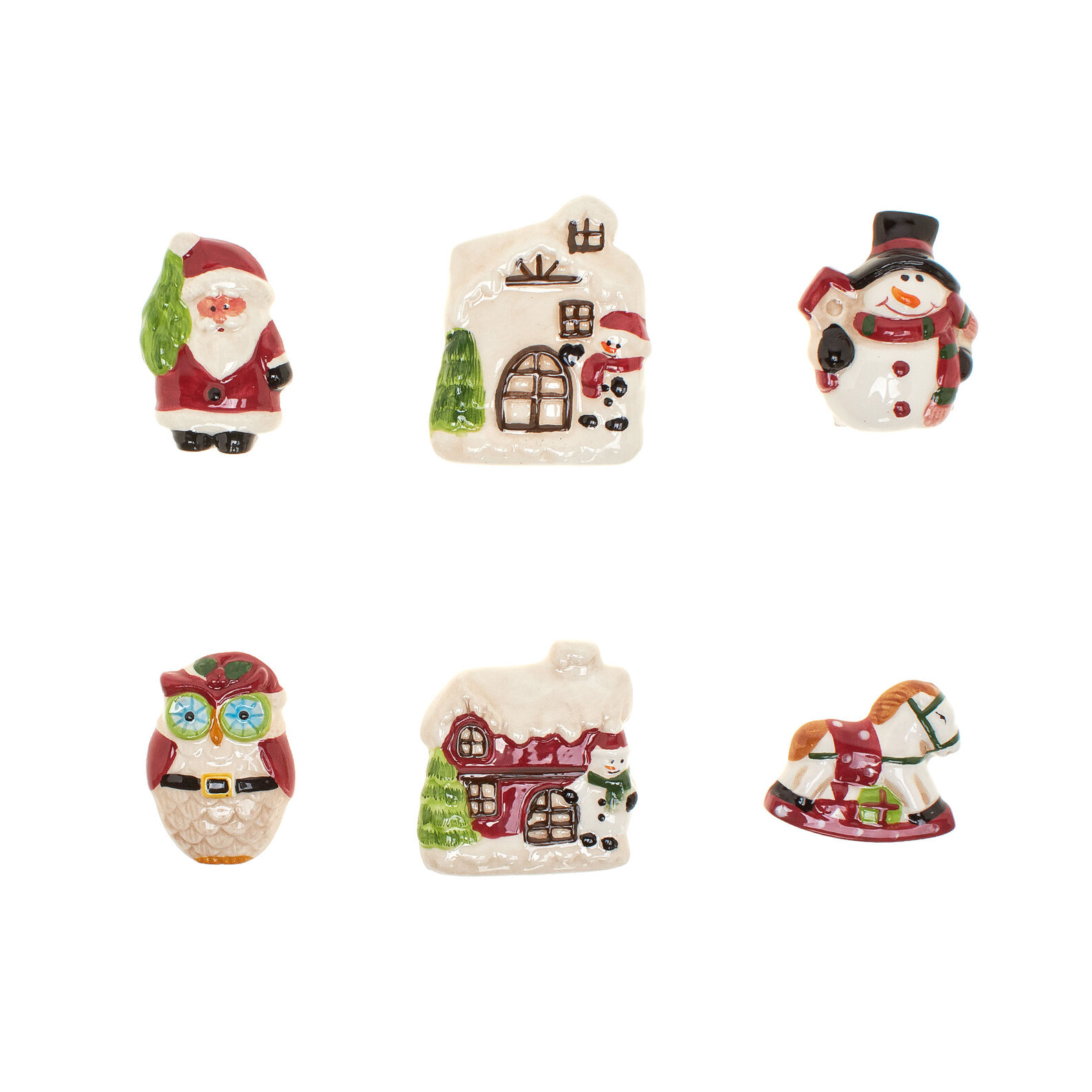 Christmas-shaped ceramic magnets