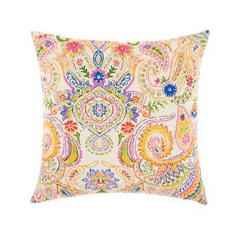 100% cotton cushion with foulard print