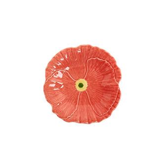 Piatto frutta ceramica a fiore