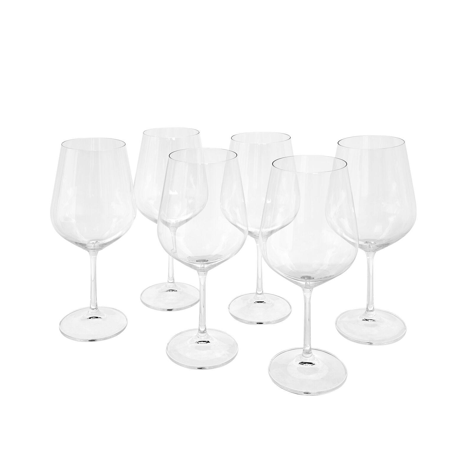 Set of 6 glass wine goblets 450 ml