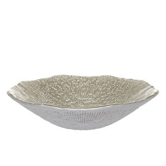 Chromed glass bowl