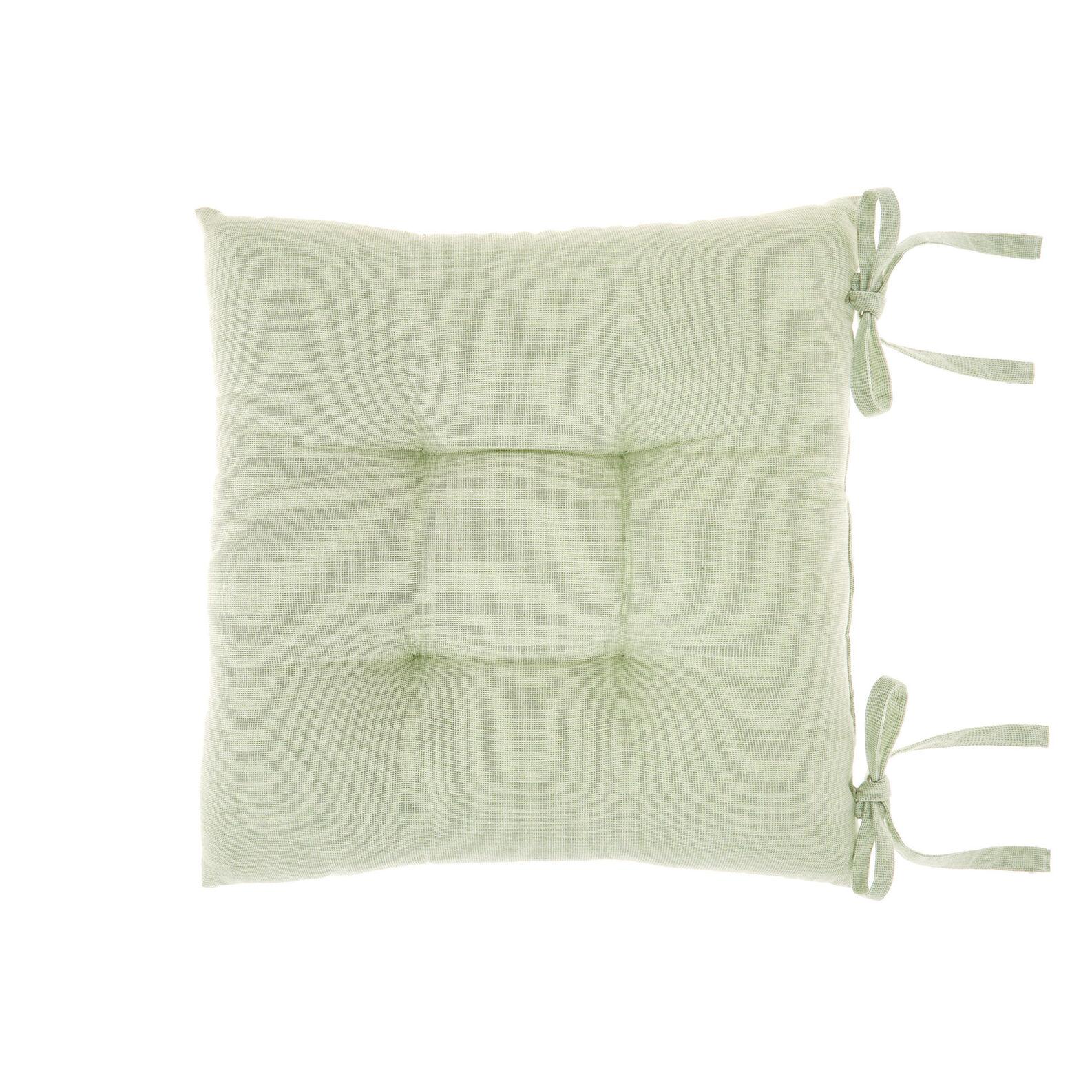 Cuscino da sedia puro cotone tinto filo effetto mélange