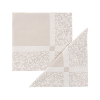 Set of 2 napkins in 100% cotton jacquard