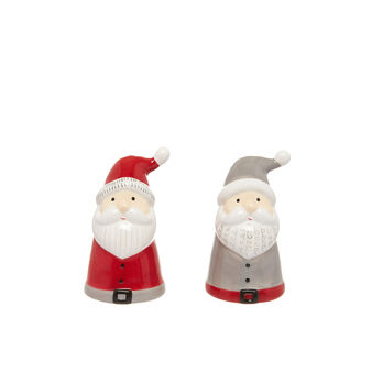 Ceramic salt and pepper set with Father Christmas