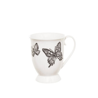 Mug in New Bone China with butterflies