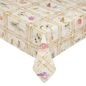 100% cotton tablecloth with bamboo print