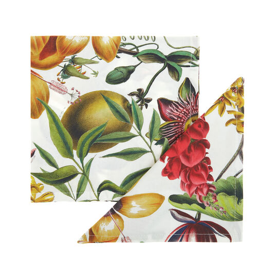 2-pack napkins in cotton twill with floral print