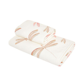 Cotton towel with dragonfly print