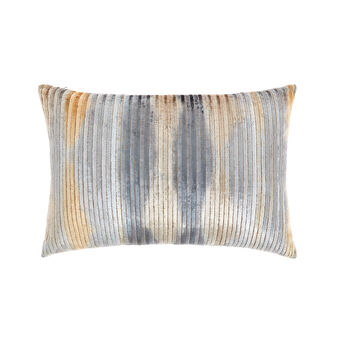 Ribbed velvet cushion 35x55cm