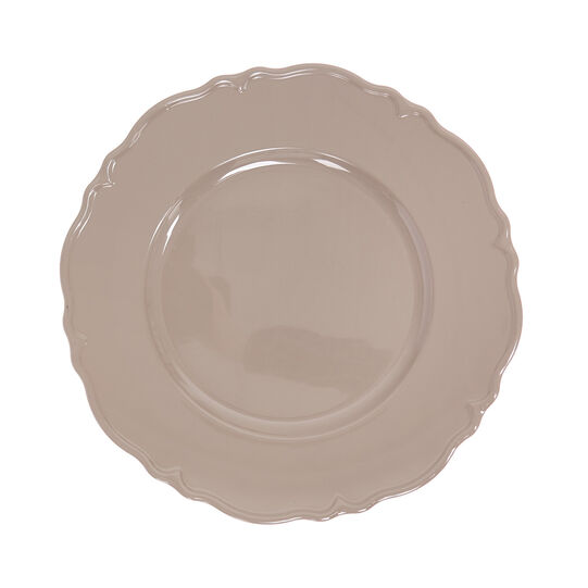 Plastic charger plate with wavy edging