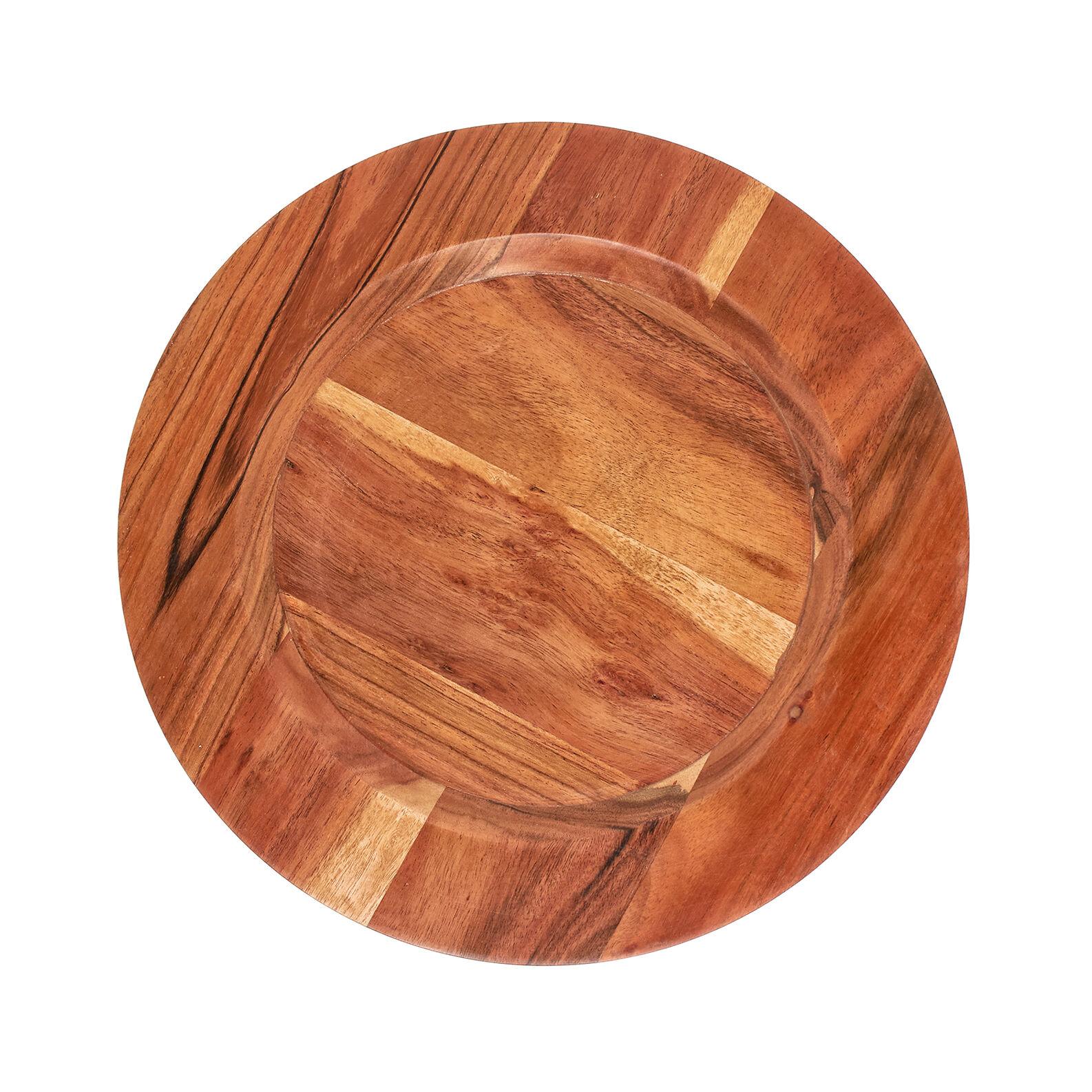 Acacia wood charger plate